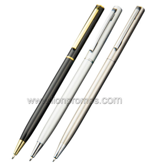 Cheap Colorful Promotional Gift Slim Metal Ball Pen 64 pictures & photos