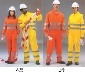 100%Cotton Red Fire Retardant Fireproof Safety Coverall with Reflective Tape Fluorescent
