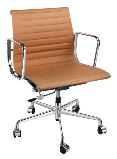Short Back Eames Aluminum Frame Mesh Office Armrest Chair