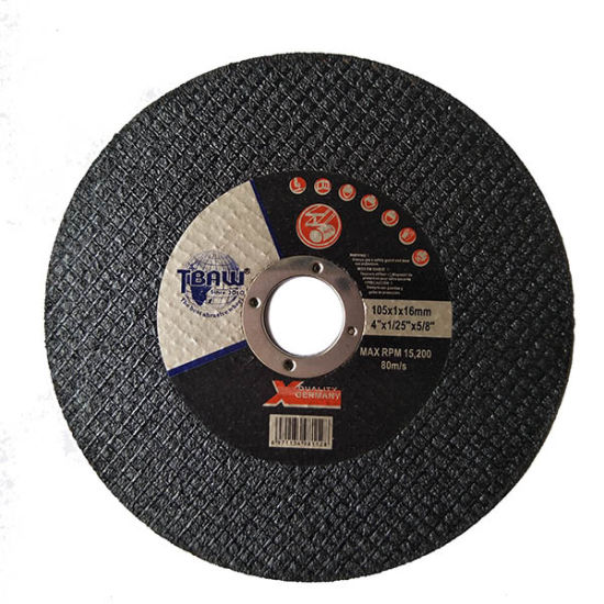 105X1.0X16mm Cutting Wheel Single Net Super Thin 4 Inch Cut off Wheel for Stainless Steel