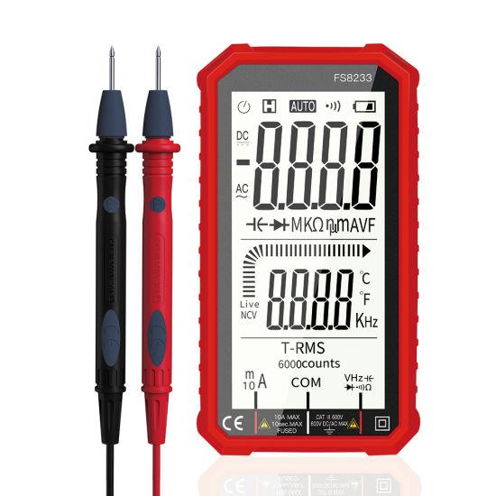 Digital Multimeter 6000 Counts Auto Range Ncv Intelligent Multimetro Tester AC DC Voltage Capacitance Ohm Hz Meter
