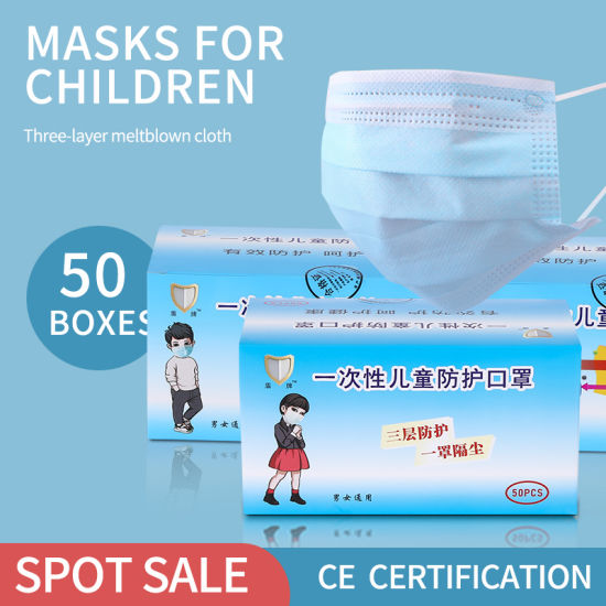 Children Mask Factory Produce Disposable 3ply Face Mask for Student