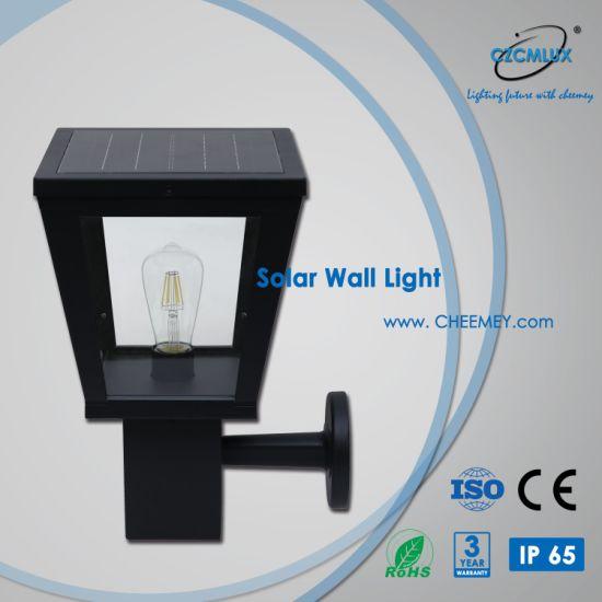 IP65 Outdoor LED Solar Wall Light for Garden Work for 3-5 Rainy Days