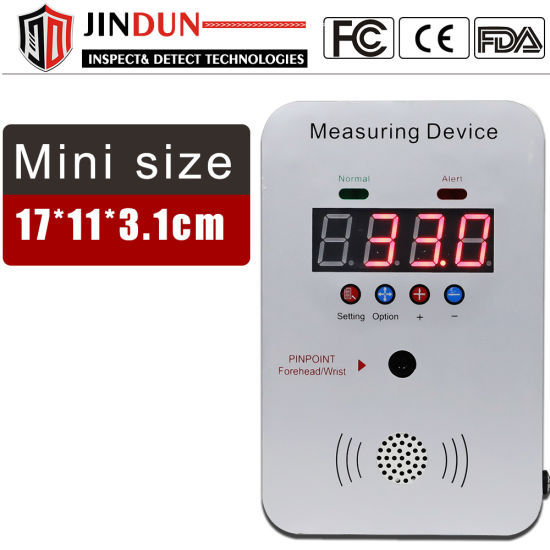Mini Size Body Forehead Infrared Temperature Scanner with Automatic Alert