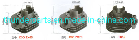 Motorcycle Cylinder Block Kit for Dio Zx/65/70 44/47mm/Tb50 41mm