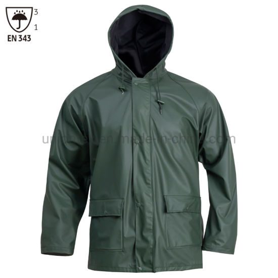 Raincoat set Regular size Waterproof Clothes Rainwear Pants Navy High quality