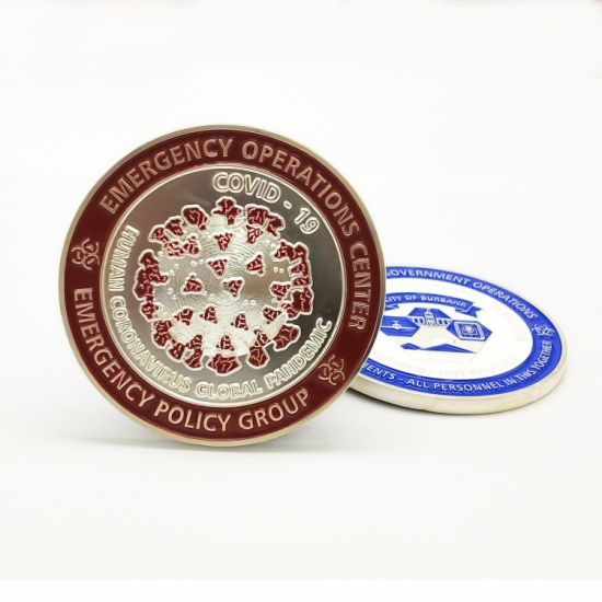 Factory Custom Emergency Operations Center Commemorate Badge Professional Supplies 3D Metal Craft Military Honor Challenge Coins
