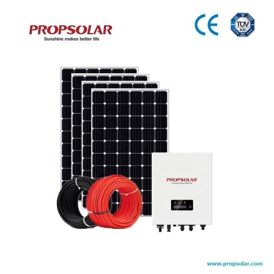 Best Efficiency and Best Price 5kw Solar Power Generator Energy System