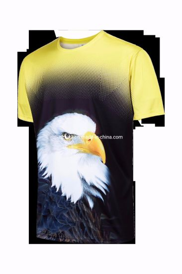 Sublimation Print T Shirt, Customized Printed Sports T Shirt pictures & photos