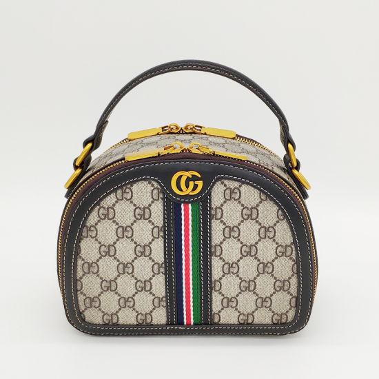 Custom Lady Fashion Designer Bag PVC and Leather Box Handbag