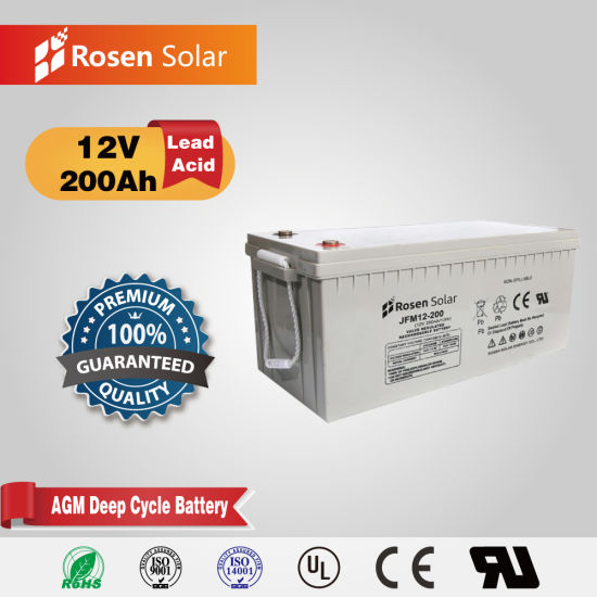 Rosen VRLA Deep Cycle Rechargeable 12V 200ah AGM Battery Cost