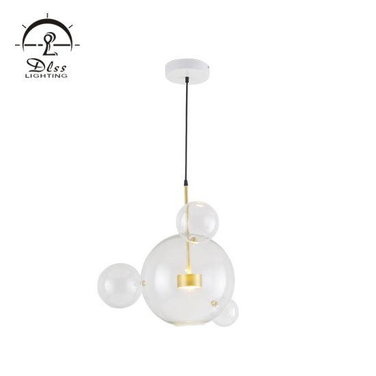 Fancy Modern Glass Iron Bedroom Decor Italian Lighting Pendant Lamps