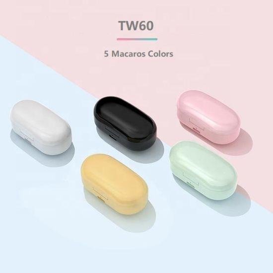 Tw60 Manufacturer Supplier Tws Wireless Bluetooth Headset Ear Bud Earbud Earphone Headphone