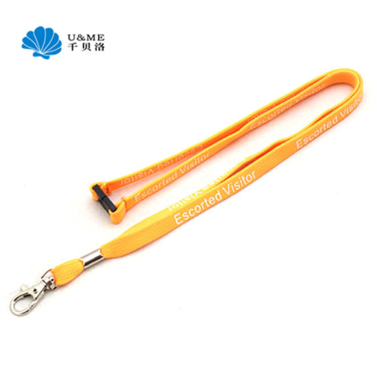 Promotion Custom Polyester Lanyard Strap with Metal Hooks