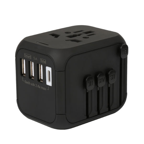 Original Factory Hot Selling Auto Recovery Fuse 4 USB Global Travel Adapter with 5A Rapid Charger for Other Consumer Electronics pictures & photos