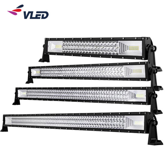 Triple Row IP69K High Power 42'' 50'' 52'' Straight Cruved LED Light Bar for Offroad Truck