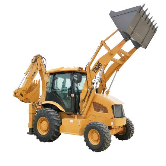 7ton China Backhoe Wheel Loader Price Excavator Loaders