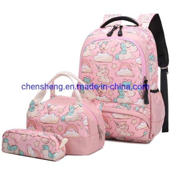 3 in 1 Children School Backpack 3D Cartoon Animals Unicorn Design Waterproof Kids School Bags for Baby Girls Kindergarten