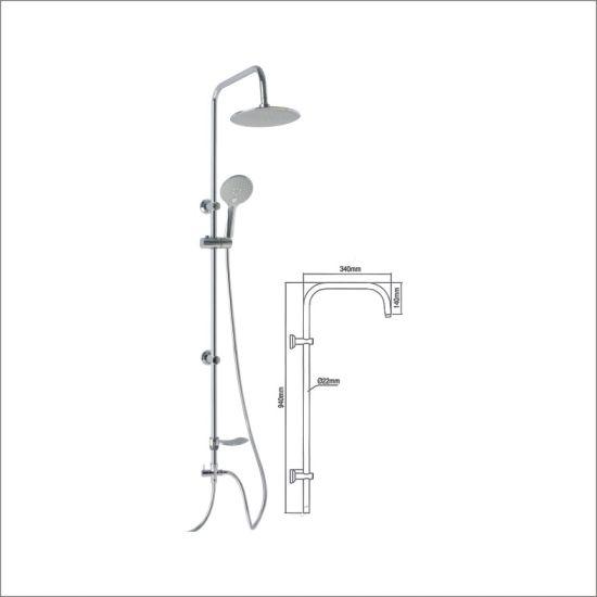 Bathroom Sanitary Ware Chrome ABS 3 Funtion Shower Set