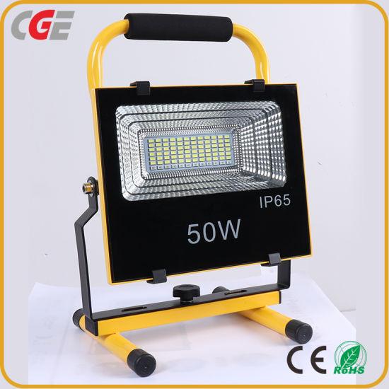 High Lumen Outdoor Lighting IP65 Waterproof 50W Solar LED Floodlight All in One