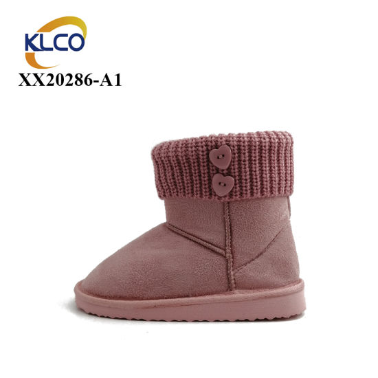 Wholesale Knee High Boots Women's Fashion Leather Waterproof Faux Fur Snow Boots