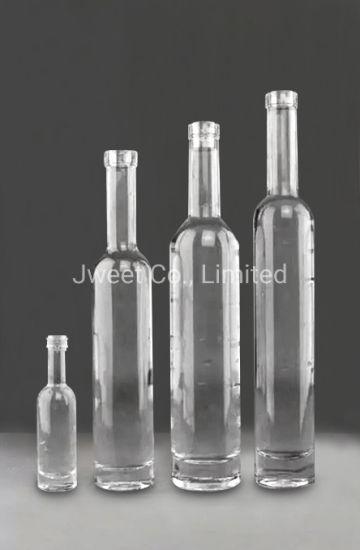 OEM Super Flint Glass Transparent 750ml Brandy Glass Bottle with Cork