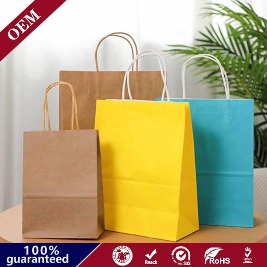 10*6.75*12 Inch Chept Price Handle Brown Kraft Zara Plain Cheap Price Paper Bags with Tyvek Paper Bags