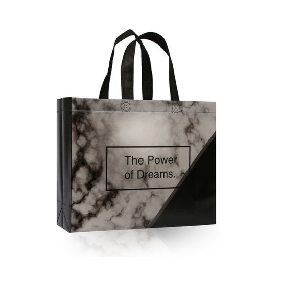 in Stock Cheap Fashion Recycled Laminated PP Non Woven Tote Promotional Hand Shopping Bag