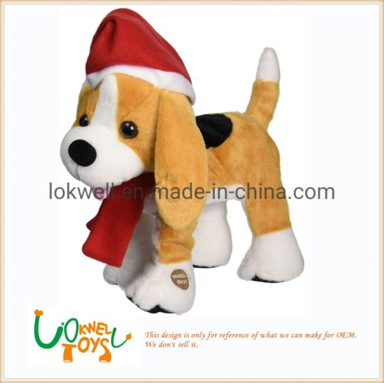 Christmas Dog Festival Decoration Plush Animal OEM Supplier pictures & photos