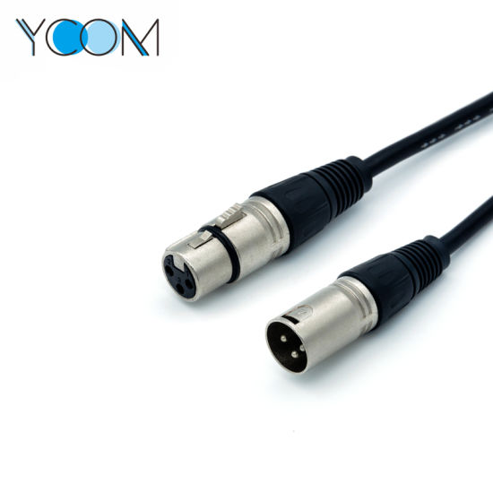 YCOM XLR M 3pin Jack Microphone Mic AV Extension Cable pictures & photos
