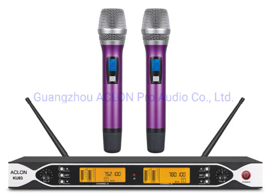 OEM Hot Sale Dual Channel Portable UHF Wireless Microphone