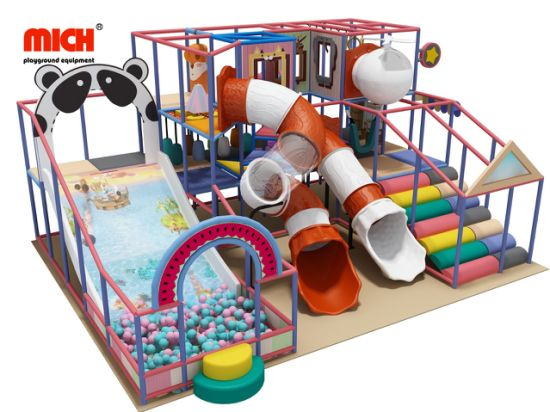 Commercial Kids Plastic Indoor Playground Equipment for Sale