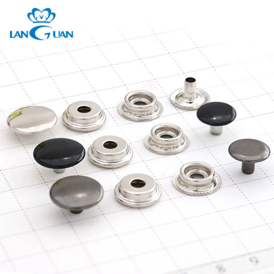 Customize 4 Parts Double Metal Press Snap Button for Fashion Garment Accessories