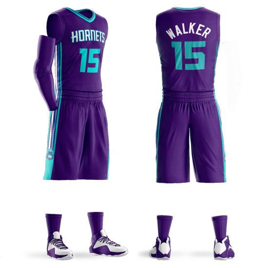 the best attitude b7c87 74964 Custom Charlotte Hornets #15 Kemba Walker Swingman Basketball Jersey