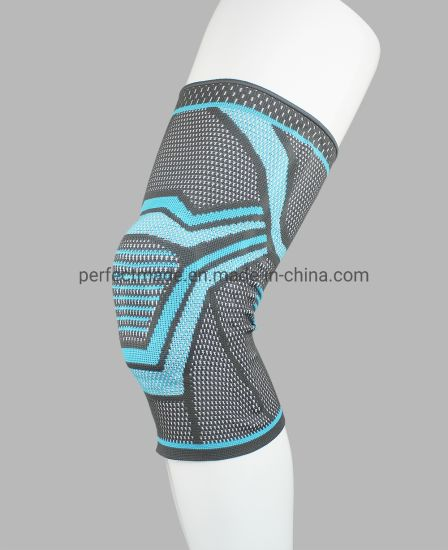 Comfortable Nylon Elastic Knee Brace with Silicone Pads