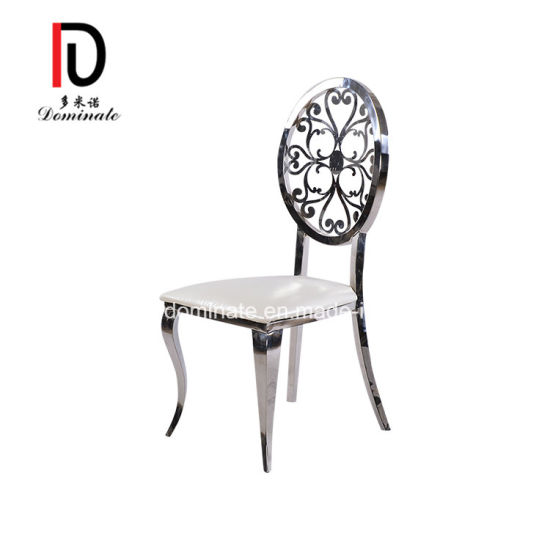 Good Design Modern Banquet Furniture Beautiful Silver Stainless Steel Chair for Wedding and Event