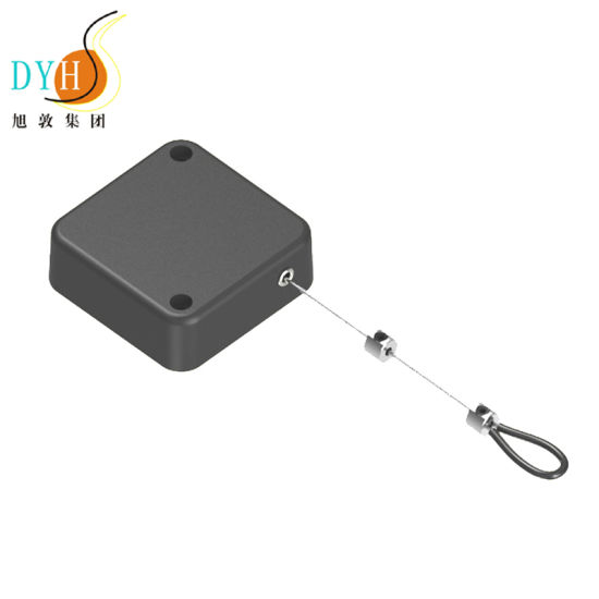 1.5m Spring Loaded Stainless Steel Cable Retractable Anti Theft Security Tether Pull Box pictures & photos