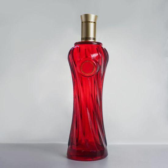 Wholesale Luxury Vodka Bottle Cheap Vodka Whisky Spirit Wine Vinegar Glass  Bottle with Lid