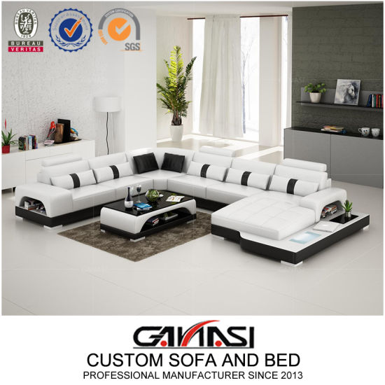 China Max Divani 7 Seater Leather Sofa