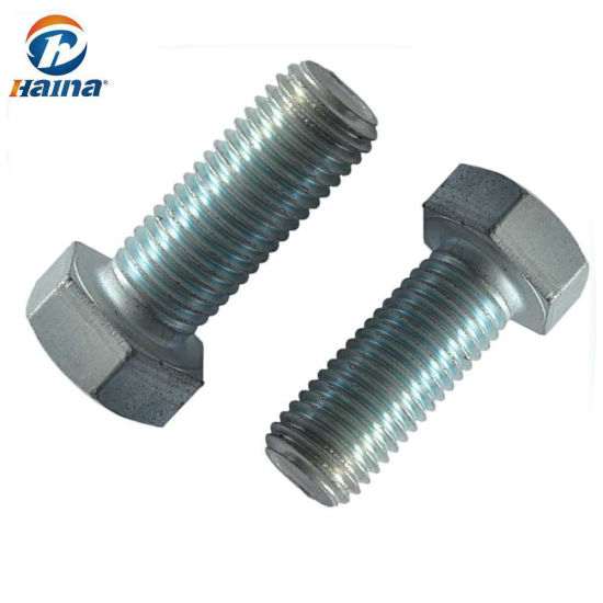 Gr 4 8 Carbon Steel HDG Finished Full Thread DIN933 Bolts/Hex Bolts/Hex  Head Bolts