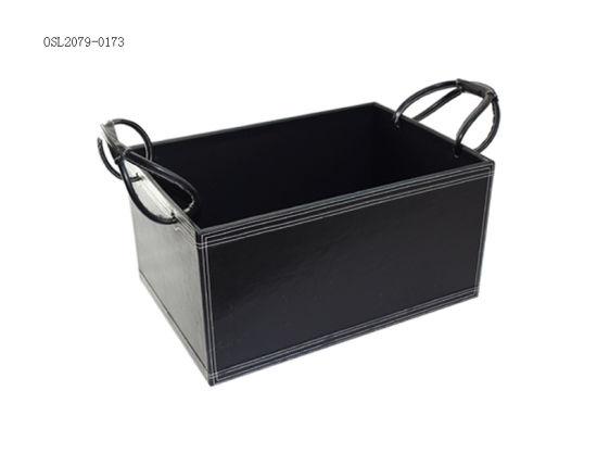 Handmade Office Supplies Desk Organizer Leather Storage Box