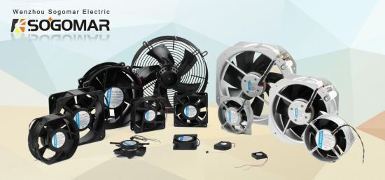 172X150X55mm Metal Axial Fan with Terminal Type 230V AC for Exhaust Cooling