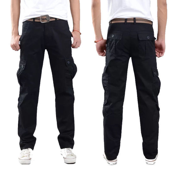 High Quality Men Casual Cargo Pants Fashion Trousers Outdoor Garments