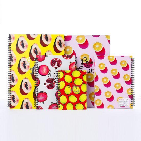 Cheap Meal Journal Fruit Pattern Spiral Notebook A4/A5/A6 Custom for Sale