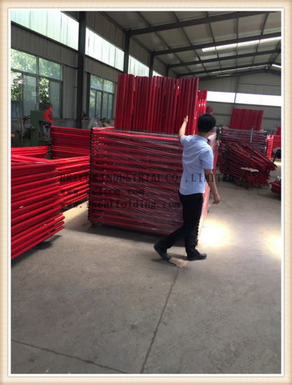 Red Painting Ladder Frame system Scaffolding pictures & photos