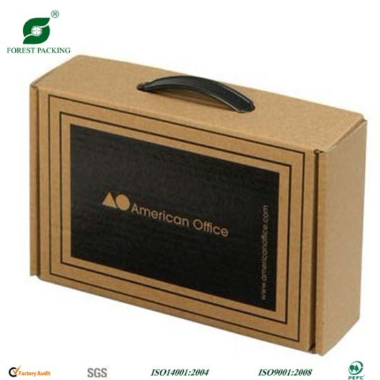 Handle Corrugated Packing Paper Box (FP7020) pictures & photos