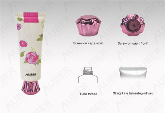 D30mm Rose Cosmetic Tube Packaging Hand Cream