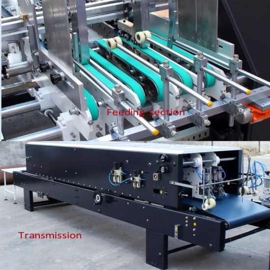 Paper Box Folder Gluer Machine for 4/6 Corner pictures & photos