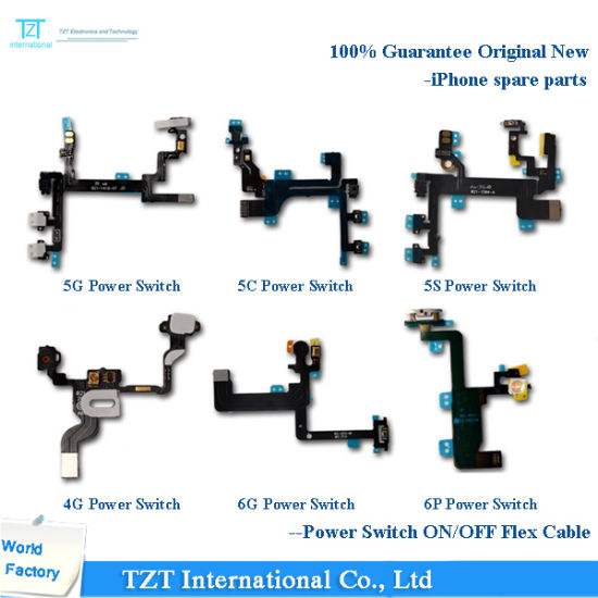 Mobile Phone Power Switch Flex Cable for iPhone 4/5/6