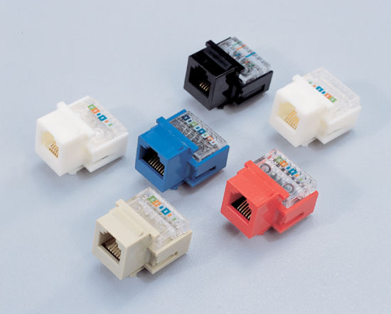 Network Keystone Jack / CAT3, CAT5E, CAT6 pictures & photos